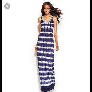 INC tie dye maxi dress